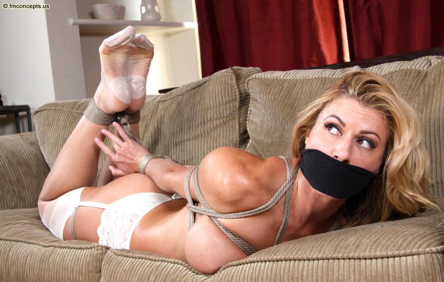 Stockings hogtied bondage