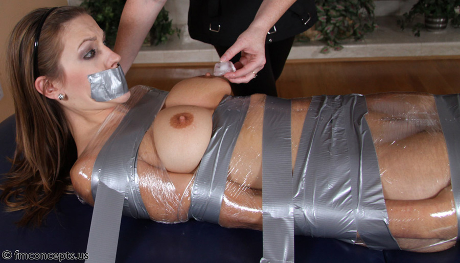girls bound and gagged with duct tape