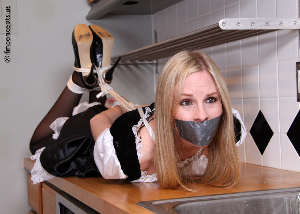 Woman tape gagged stealing for the fuck of