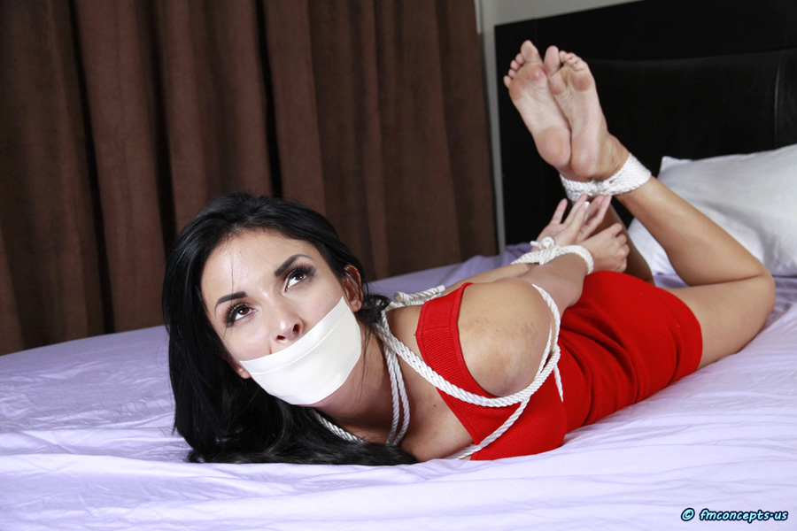 Bunda. bound hogtied gagged naked captive [censored]
